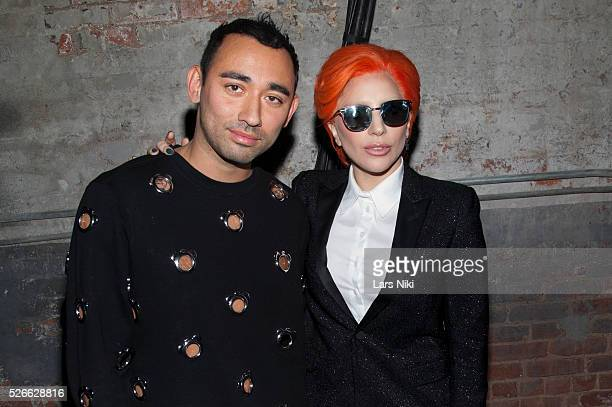"""Nicola Formichetti and Lady Gaga attend the """"Nicopanda Fashion Collection Presentation"""" during NYFW A/W 2016 at 541 West 22nd Street in New York..."""