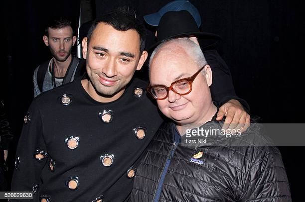 """Nicola Formichetti and Mickey Boardman at the """"Nicopanda Fashion Collection Presentation"""" during NYFW A/W 2016 at 541 West 22nd Street in New York..."""