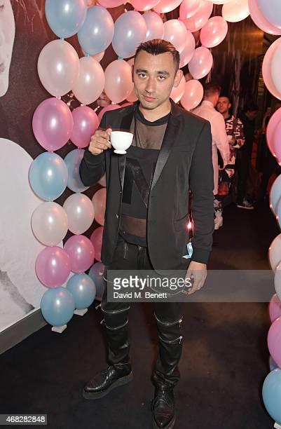 "Nicola Formichetti attends the launch of Nicola Formichetti's new label ""Nicopanda"" at Selfridges on April 1, 2015 in London, England."