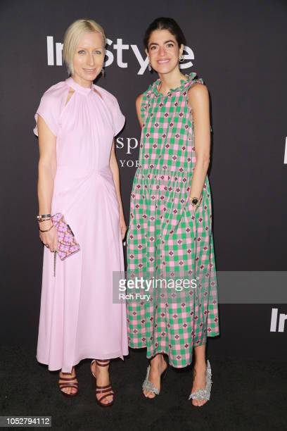 Nicola Glass and Leandra Medine attend the 2018 InStyle Awards at The Getty Center on October 22 2018 in Los Angeles California
