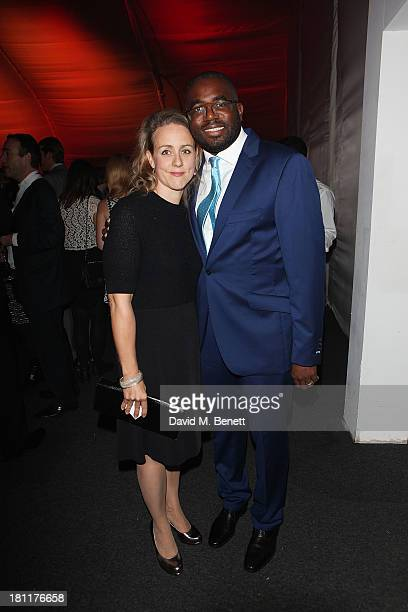 Nicola Green and David Lammy attends the London Evening Standard's Power 1000 launch at Battersea Power Station on September 19 2013 in London England