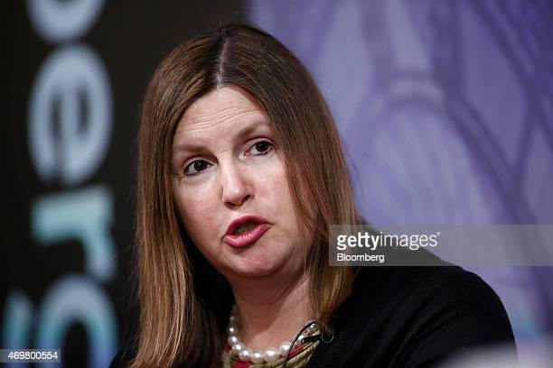 Nicola Horlick chief executive officer of MoneyCo speaks during a Bloomberg Television UK General Election 'City' debate in London UK on Wednesday...