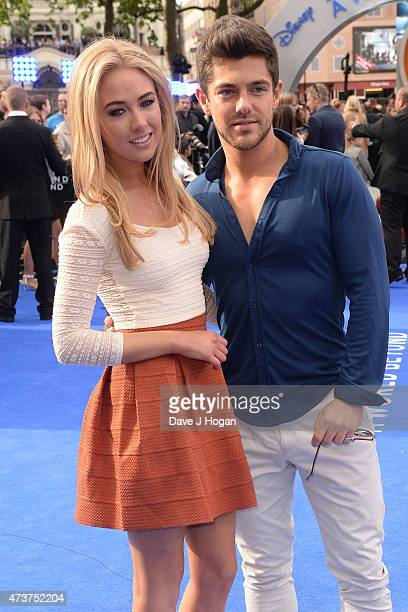 Nicola Hughes and Alex Mytton attend the Tomorrowland A World Beyond European premiere at Leicester Square on May 17 2015 in London England