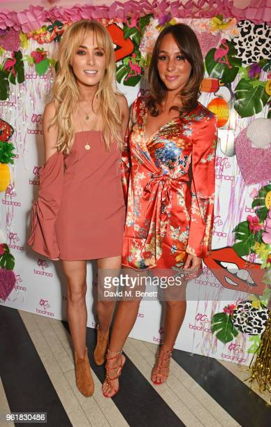 Nicola Hughes and Amber Dowding attend the cocktail launch party to celebrate the Gemma Collins X Boohoo Collection at Tonight Josephine on May 23...