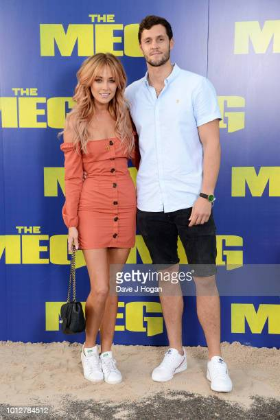Nicola Hughes and Charlie Tupper attend a special screening of 'The Meg' at Brockwell Lido on August 7 2018 in London England