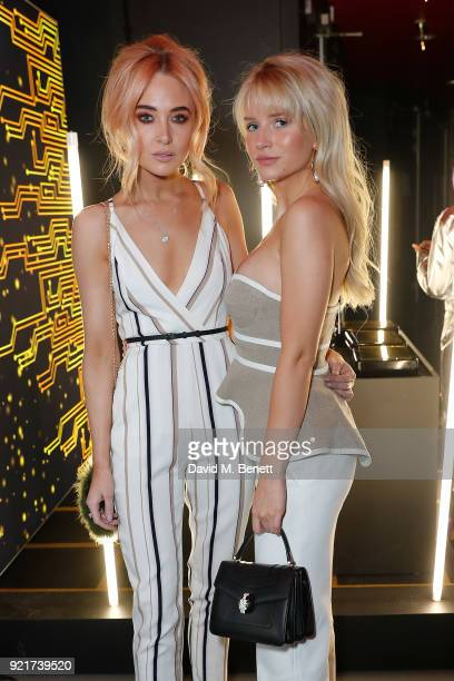 Nicola Hughes and Lottie Moss at the Naked Heart Foundation's Fabulous Fund Fair in London at The Roundhouse on February 20 2018 in London England