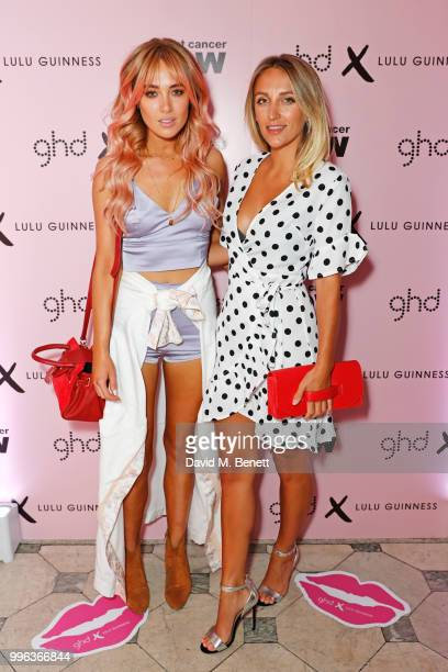 Nicola Hughes and Tiffany Watson attend the launch of the new ghd x Lulu Guinness collection which raises money for Breast Cancer Now at One...