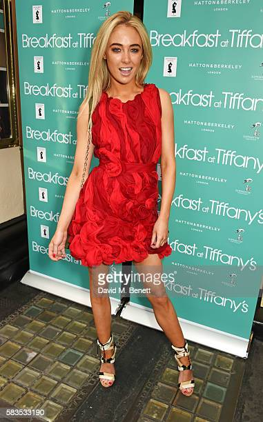 Nicola Hughes arrives at the press night performance of 'Breakfast at Tiffany's' at the Theatre Royal Haymarket on July 26 2016 in London England