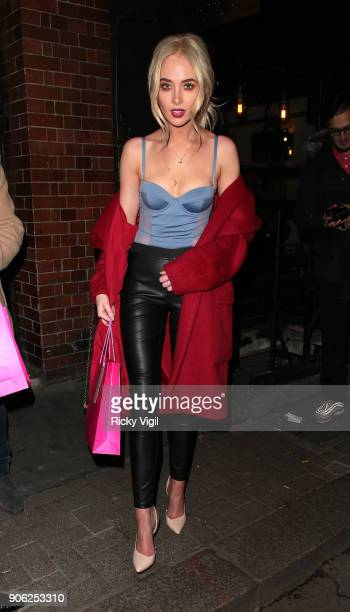 Nicola Hughes attends Sun Kissed beauty launch party in Soho on January 17 2018 in London England