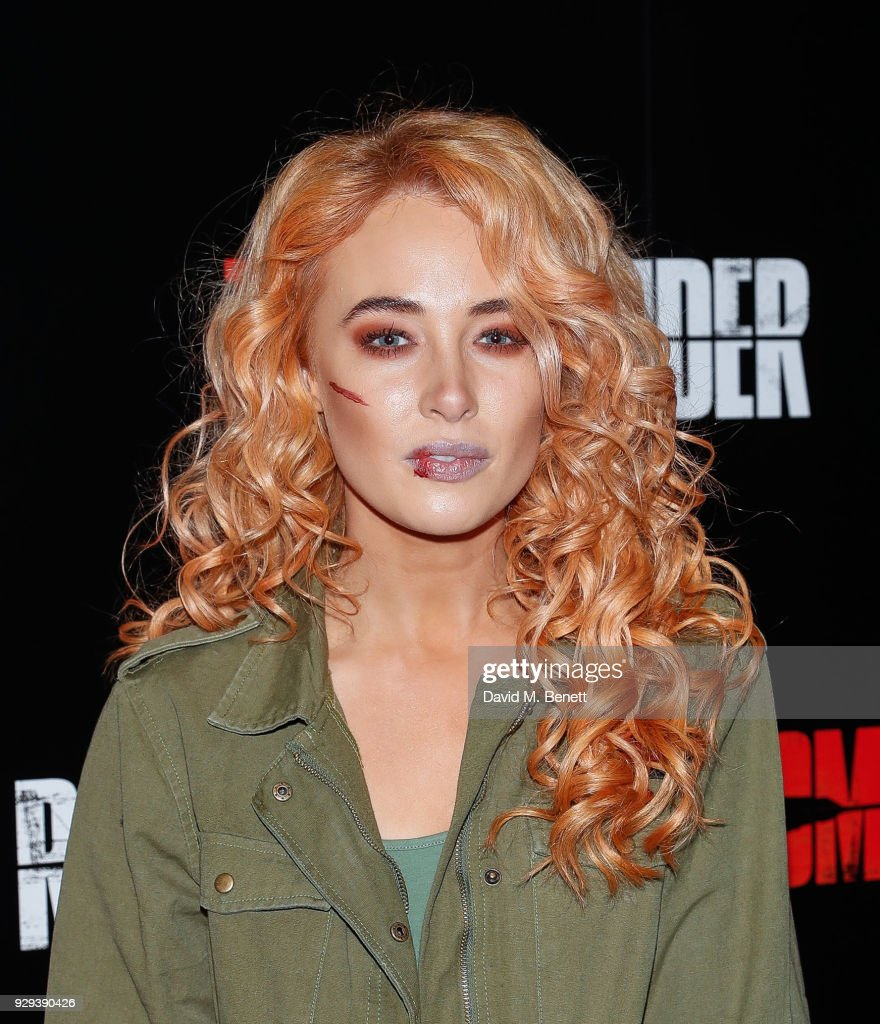 Nicola Hughes attends the Celebrity Night of the 'Tomb Raider' Escape Room on March 8, 2018 in London, England.