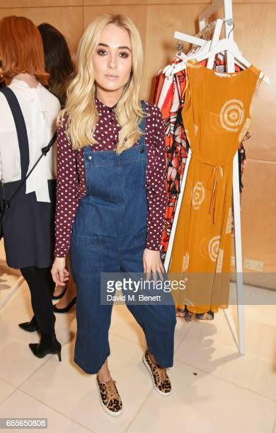 Nicola Hughes attends the Debenhams Summer 17 Salon Show with global supermodel Helena Christensen and Emma Willis alongside a selection of designers...