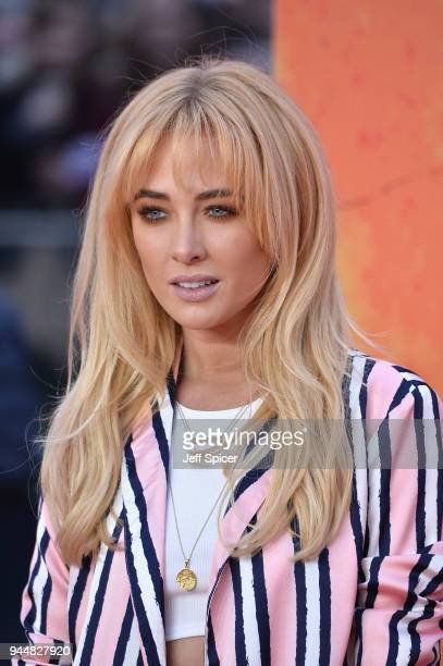 Nicola Hughes attends the European Premiere of 'Rampage' at Cineworld Leicester Square on April 11 2018 in London England