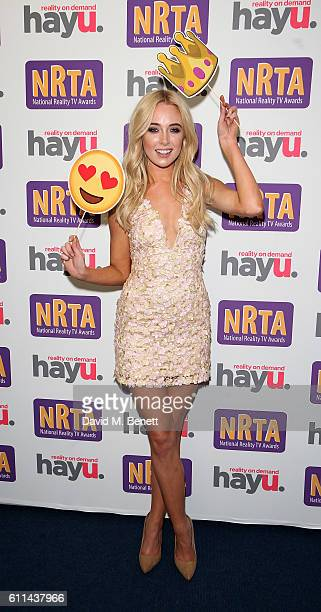 Nicola Hughes attends the hayu National Reality TV Awards at Porchester Hall on September 29 2016 in London England