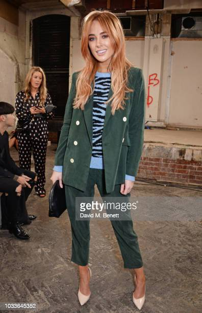 Nicola Hughes attends the House Of Holland front row during London Fashion Week September 2018 at the My Beautiful City Show Space on September 15...