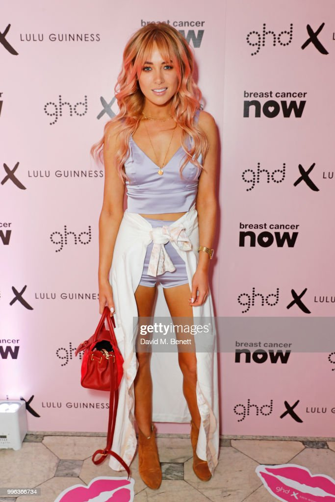 Nicola Hughes attends the launch of the new ghd x Lulu Guinness collection, which raises money for Breast Cancer Now, at One Belgravia on July 11, 2018 in London, England.