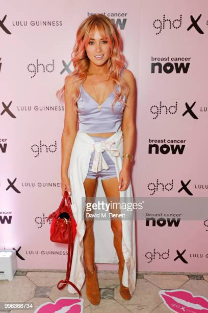 Nicola Hughes attends the launch of the new ghd x Lulu Guinness collection which raises money for Breast Cancer Now at One Belgravia on July 11 2018...