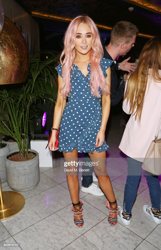 Nicola Hughes attends the Look Of The Day launch party in the Radio Rooftop Bar at the ME Hotel on August 16, 2017 in London, England.