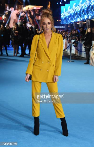 Nicola Hughes attends the World Premiere of Aquaman at Cineworld Leicester Square on November 26 2018 in London England
