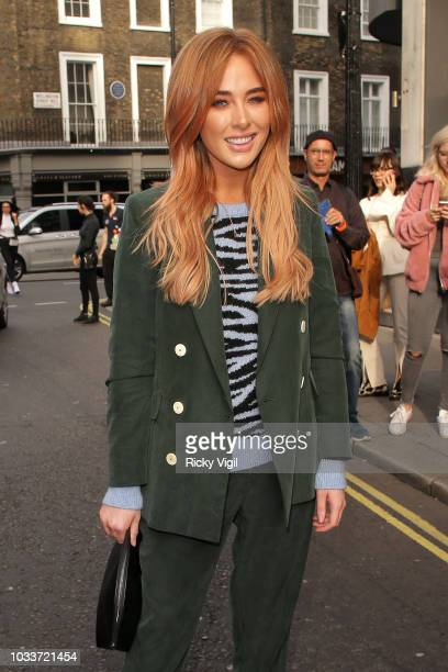 Nicola Hughes seen attending LFW s/s 2019 House of Holland catwalk show at 25 Tavistock Street during London Fashion Week September 2018 on September...
