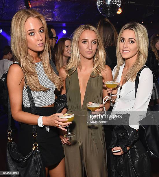 Nicola Hughes Tiffany Watson and guest attend the world's first movement activated performance by singer Ella Eyre partnered with leading...