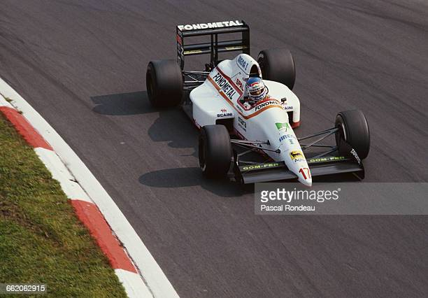 Nicola Larini of Italy drives the Osella Squadra Corse Osella FA1M89 Ford DFR V8 during the Italian Grand Prix on 10 September 1989 at the Autodromo...