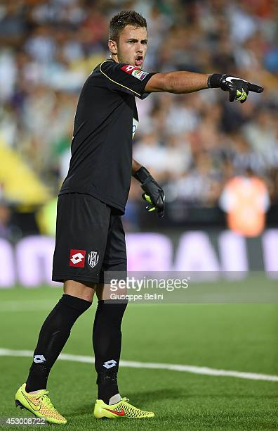 Nicola Leali of Cesena in action during the preseason friendly match between AC Cesena and Juventus FC at Dino Manuzzi Stadium on July 30 2014 in...