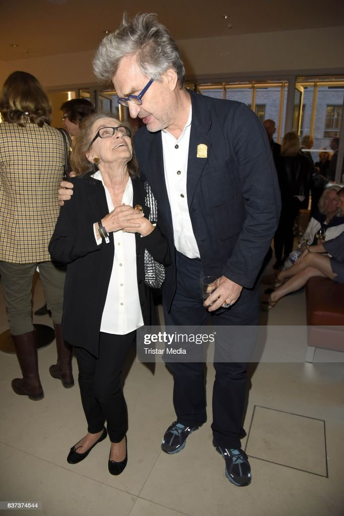 Nicola Lubitsch and Wim Wenders during the UFA Filmnaechte Berlin Reception on August 22, 2015 in Berlin, Germany.