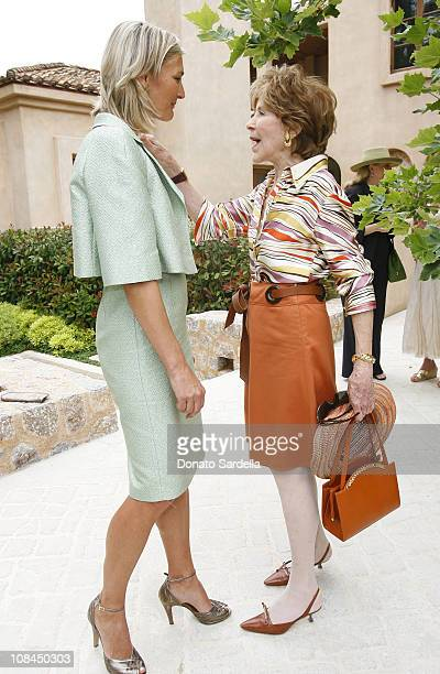 Nicola Maramotti and Betsy Bloomingdale during MaxMara and the C.H.I.P.S Host A Luncheon Benefitting The Children's Institute Incorporated at Century...