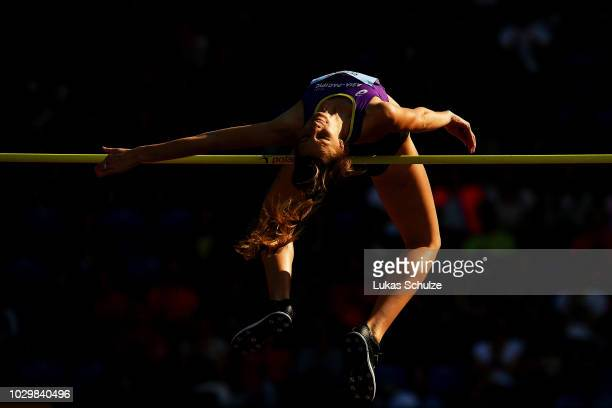 Nicola McDermott of Team AsiaPacific competes in the Womens High Jump during day two of the IAAF Continental Cup at Mestsky Stadium on September 9...