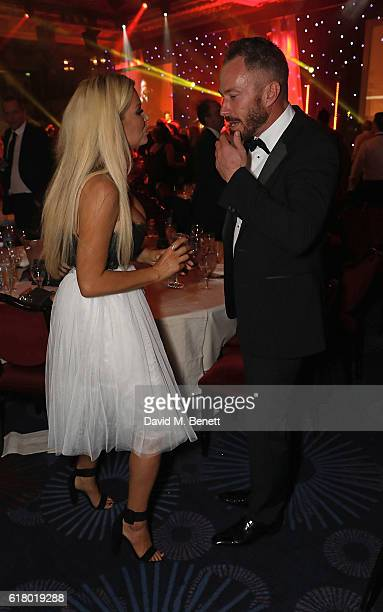 Nicola McLean and James Jordan attend 'An Evening With The Stars' charity gala in aid of Save The Children at The Grosvenor House Hotel on October 25...