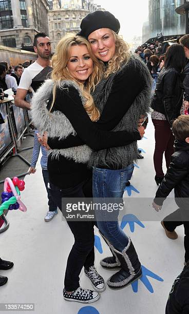 Nicola Mclean and Nikki Zilli attends the European Premiere of Happy Feet Two at Empire Leicester Square on November 20 2011 in London England
