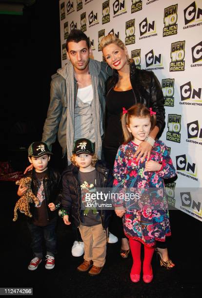 Nicola McLean and partner Tommy Williams attend the UK Premiere of 'Ben 10 Alien Force' at Old Billingsgate Market on February 15 2009 in London...
