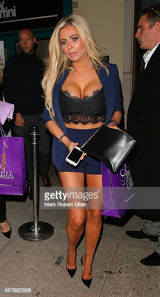 Nicola McLean attending the Amy Childs clothing collection party at Dirty Martini on October 27 2014 in London England