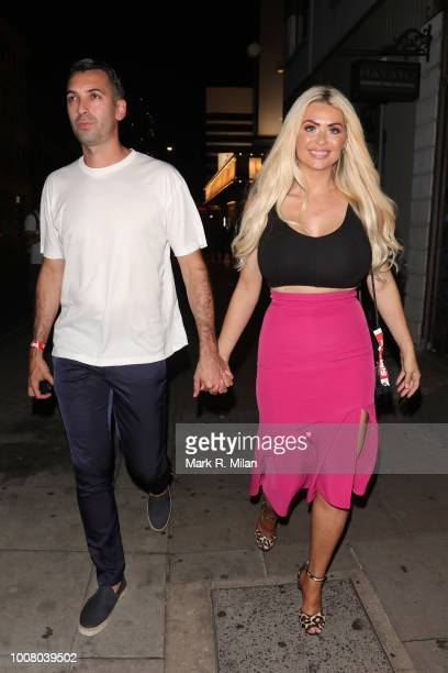 Nicola McLean attending The Sun's Love Island 2018 finale viewing party at Covent Garden's Tropicana sighting on July 30 2018 in London England