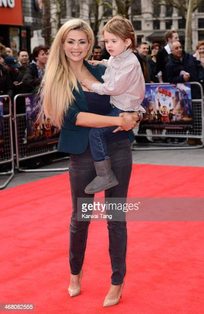 Nicola McLean attends a VIP screening of The Lego Movie at Vue West End on February 9 2014 in London England