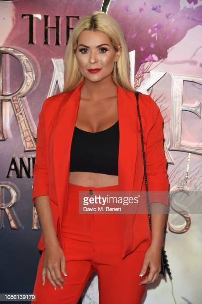 Nicola McLean attends the European Premiere of Disney's The Nutcracker And The Four Realms at Vue Westfield on November 1 2018 in London England
