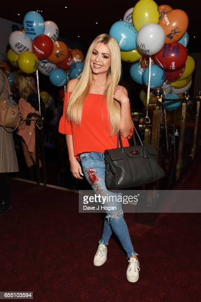 Nicola McLean attends the Gala Screening of 'Smurfs The Lost Village' at Cineworld Leicester Square on March 19 2017 in London England