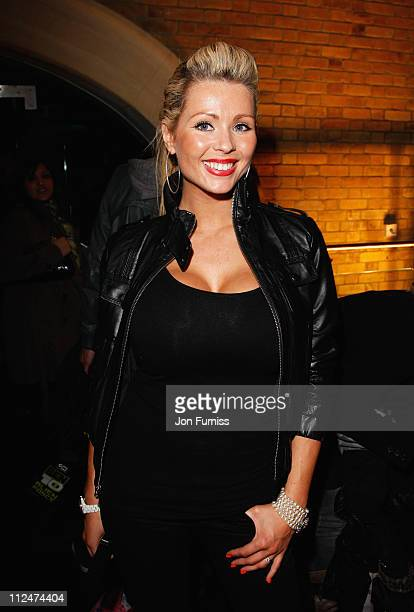Nicola McLean attends the UK Premiere of 'Ben 10 Alien Force' at Old Billingsgate Market on February 15 2009 in London England