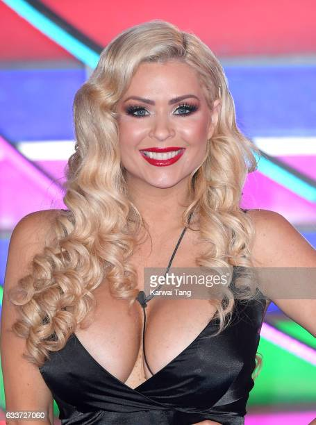 Nicola McLean is evicted from the Celebrity Big Brother house at Elstree Studios on February 3 2017 in Borehamwood United Kingdom