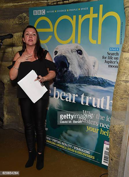 Nicola Murphy attends the launch of BBC Earth magazine at SEA LIFE London Aquarium on November 2 2016 in London England