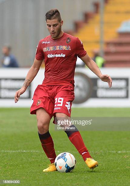 Nicola Murru of Cagliari Calcio in action during the Serie A match between Udinese Calcio and Cagliari Calcio at Stadio Friuli on October 6 2013 in...