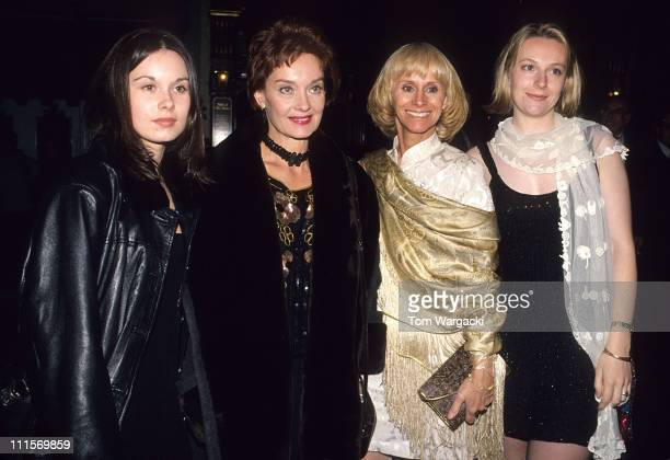 Nicola Pagett Rita Tushingham and daughters at film premiere party for An Awfully Big Adventure