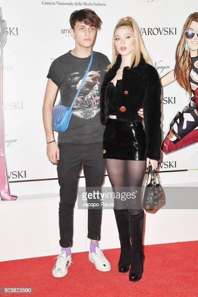 Nicola Peltz and Anwar Hadid attend the ADR Party during Milan Fashion Week Fall/Winter 2018/19 on February 24 2018 in Milan Italy