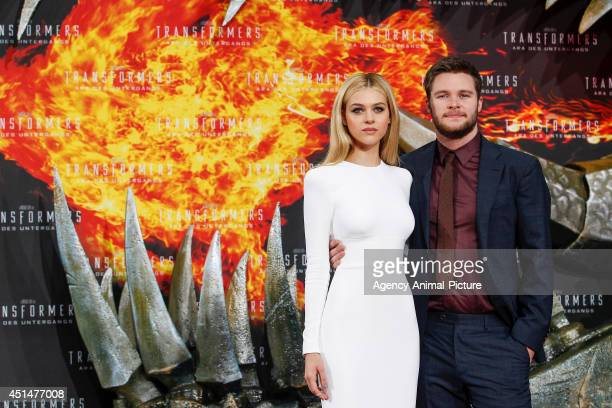 Nicola Peltz and Jack Reynor attend the 'Transformers Age of Extinction' Berlin Premiere on June 29 2014 in Berlin Germany