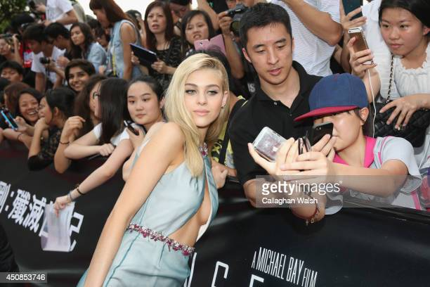 Nicola Peltz arrives at the worldwide premiere screening of Transformers Age of Extinctionat the on June 19 2014 in Hong Kong Hong Kong