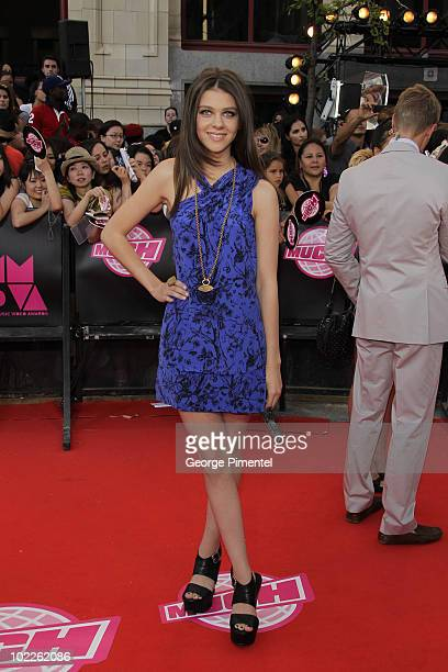 Nicola Peltz arrives on the red carpet of the 21st Annual MuchMusic Video Awards at the MuchMusic HQ on June 20 2010 in Toronto Canada