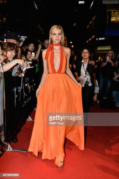 Nicola Peltz attends the Japan premiere of 'Transformers Age Of Extinction' at the Toho Cinemas Nihonbashi on July 28 2014 in Tokyo Japan
