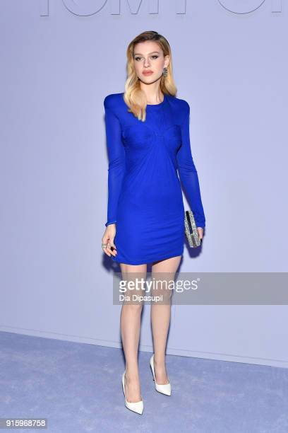 Nicola Peltz attends the Tom Ford Women's Fall/Winter 2018 fashion show during New York Fashion Week at Park Avenue Armory on February 8 2018 in New...
