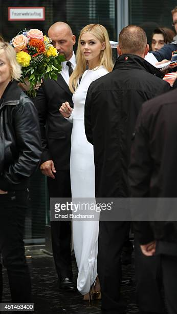 Nicola Peltz sighted departing the 'Transformers Age of Extinction' Premiere at the Sony Center on June 29 2014 in Berlin Germany