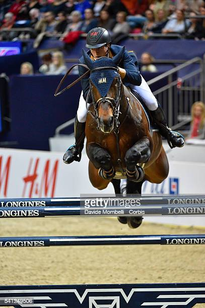 Nicola Philippaerts of Belgium riding HM Forever D Arco Ter Linden during the Longines FEI World Cup Jumping Final event of the Gothenburg Horse Show...